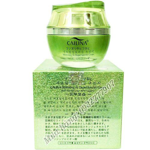 Kem trắng da đặc trị nám tàn nhang Cailina xanh Hàn Quốc chính hãng